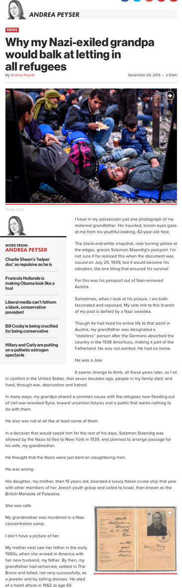 Why my Nazi-exiled grandpa would balk at letting in all refugees