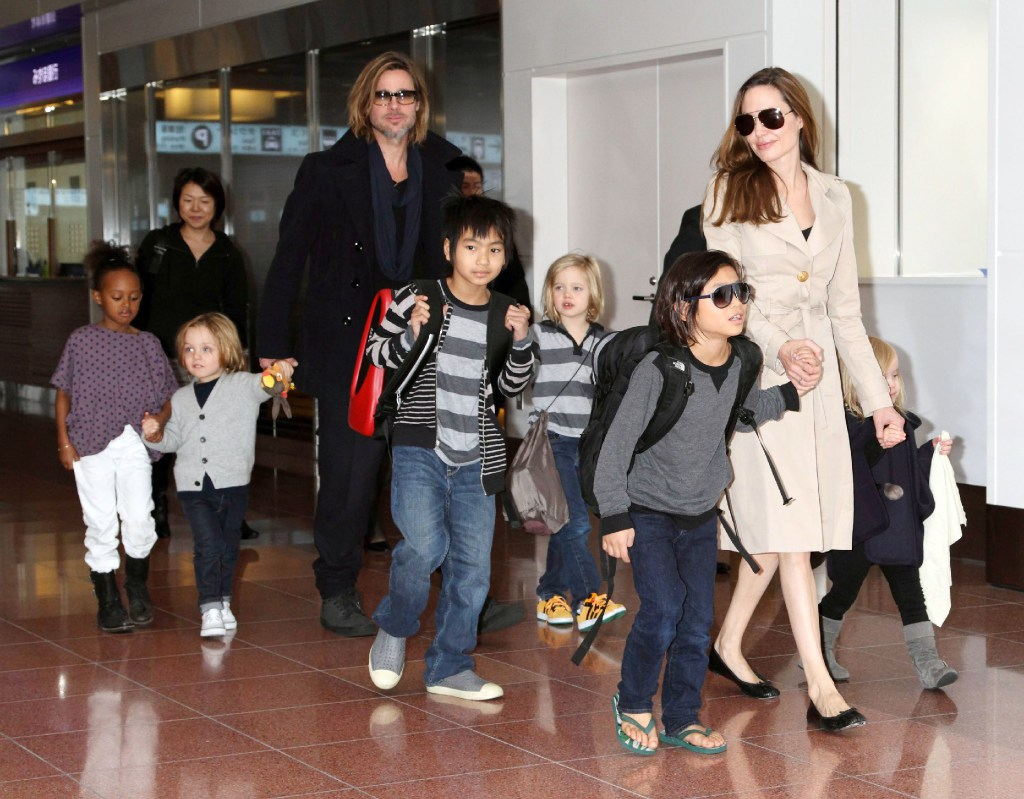 Brad Pitt_Angelina Jolie and kids